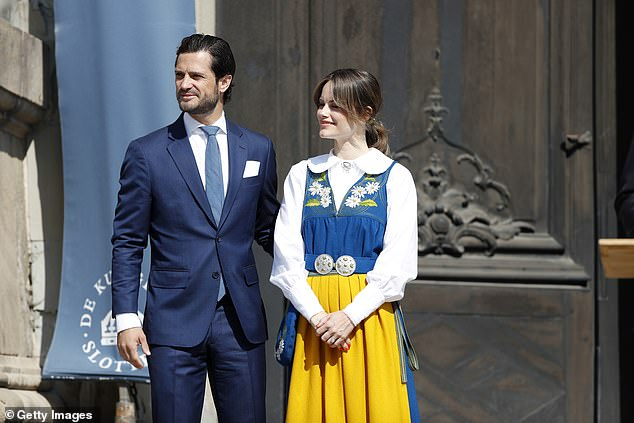 Prince Carl Phillip and Princess Sofia of Sweden looked stunning as they began the celebrations for the National Day at the Royal Palace in Stockholm