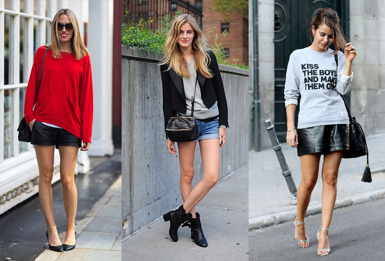 how-to-wear-sweatshirt-with-shorts