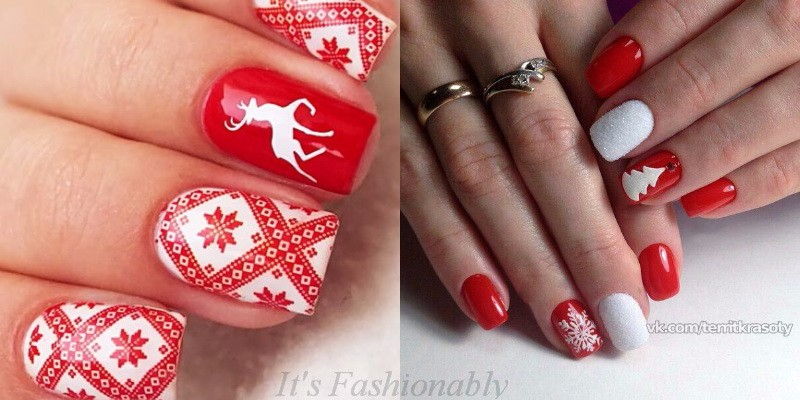 manicure for the new year 2018