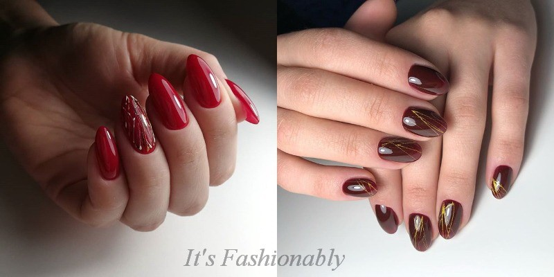 manicure for the new year 2019